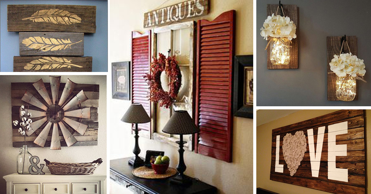 charming Home Wall Decor Ideas Part - 3: 27 Rustic Wall Decor Ideas to Turn Shabby into Fabulous