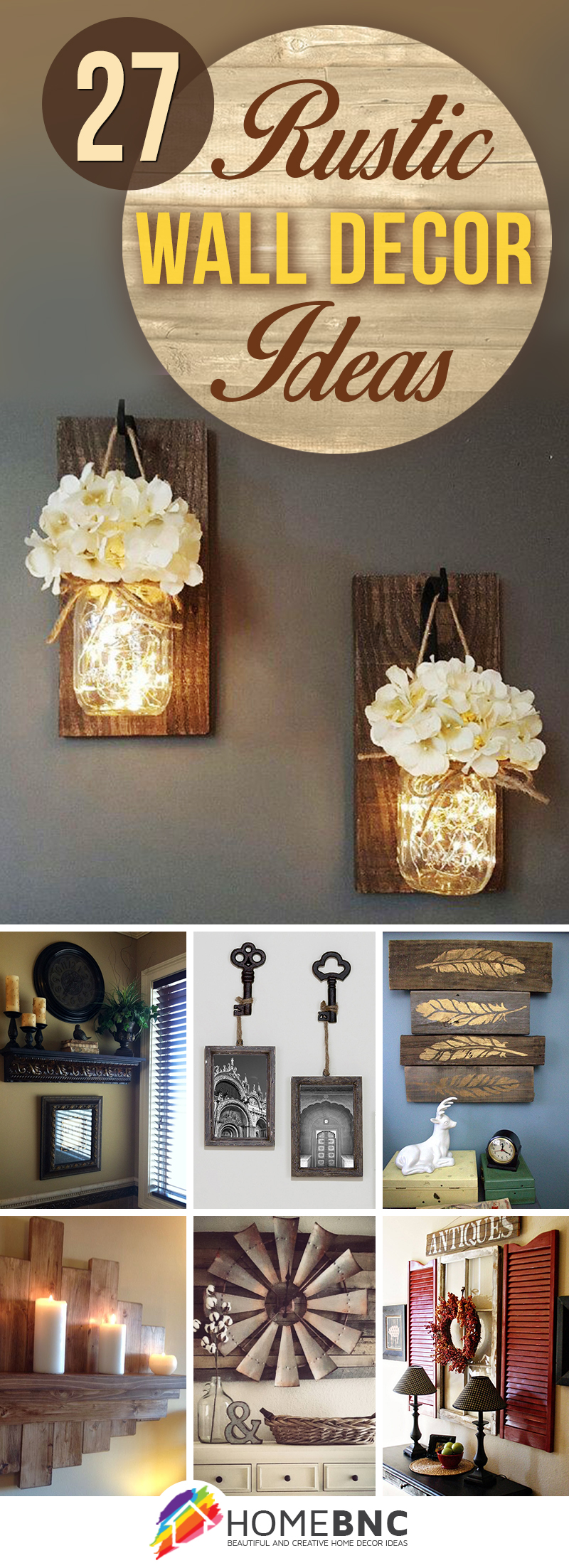 Add Charm And Character With These 27 Rustic Wall Decorations