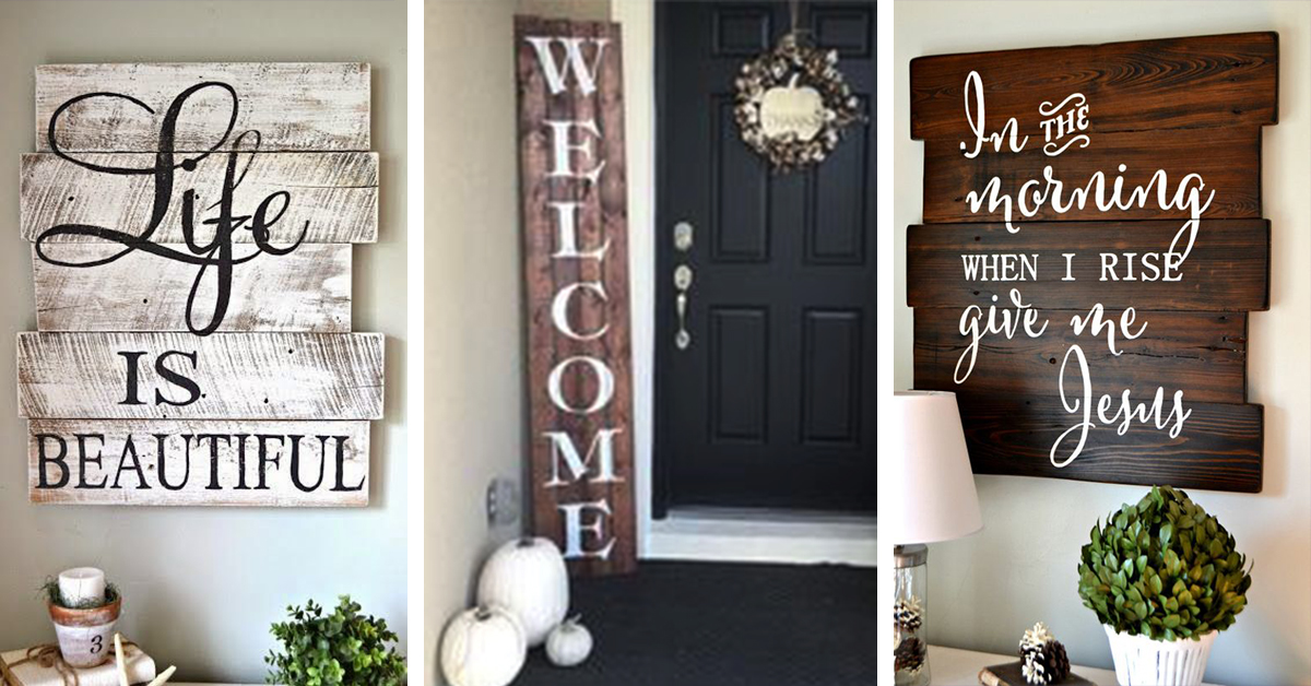 21 Best Wood Signs Ideas And Decorations For 2019