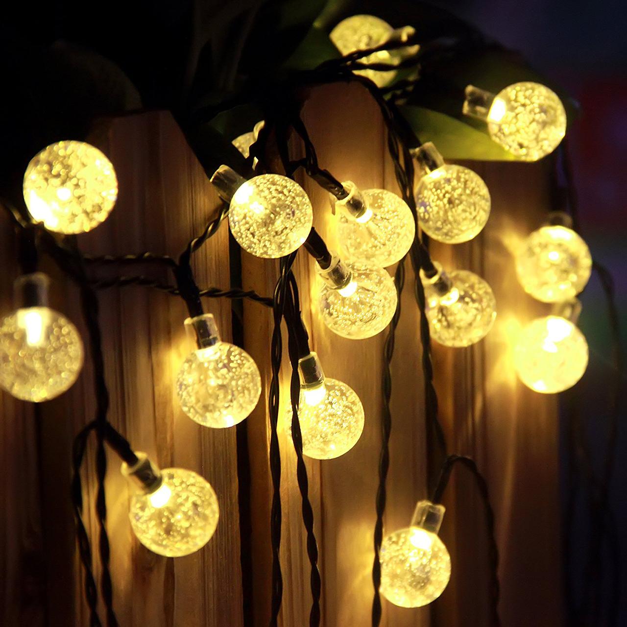 Solar patio string lights - Beautiful Solar String Lights