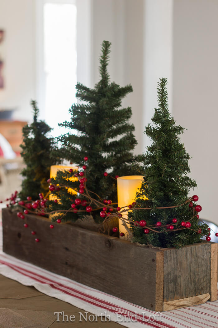 28 best diy christmas centerpieces ideas and designs for 2018 farmhouse christmas trees and cranberries masterpiece diy solutioingenieria Gallery