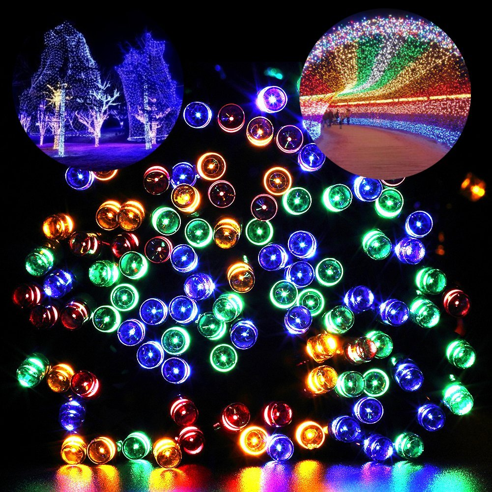 multicolor fairy lights - Exterior Christmas Lights Ideas