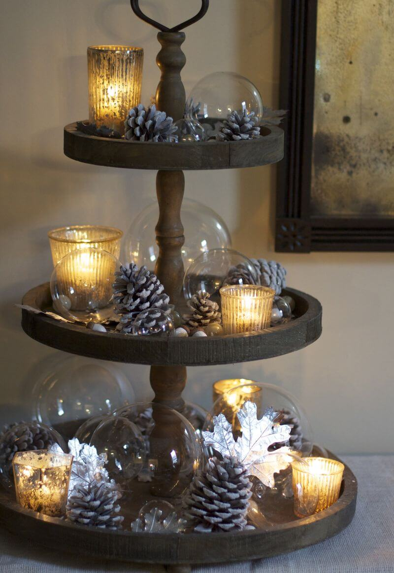 21 best christmas cake stand decorating ideas and designs. Black Bedroom Furniture Sets. Home Design Ideas