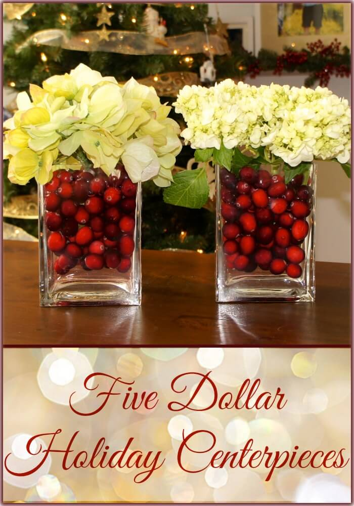 28 best diy christmas centerpieces ideas and designs for 2018 elegant cranberry and hydrangea christmas centerpiece diy solutioingenieria Images
