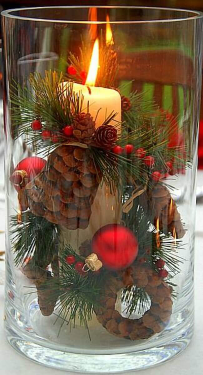 burning bright diy centerpiece - Christmas Centerpiece Decorations