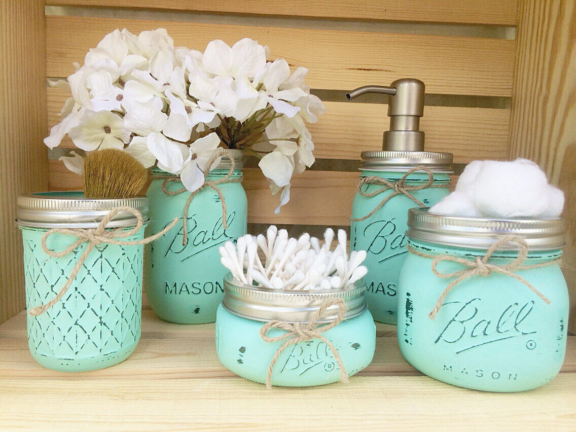 Ball Jar Bathroom Set