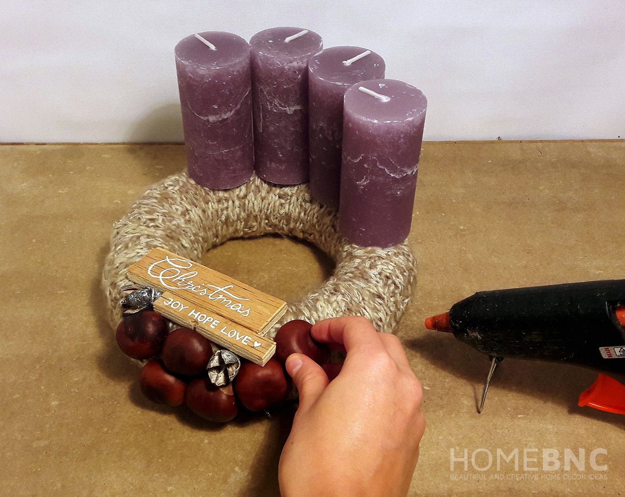 Glue the Pieces to the Wreath