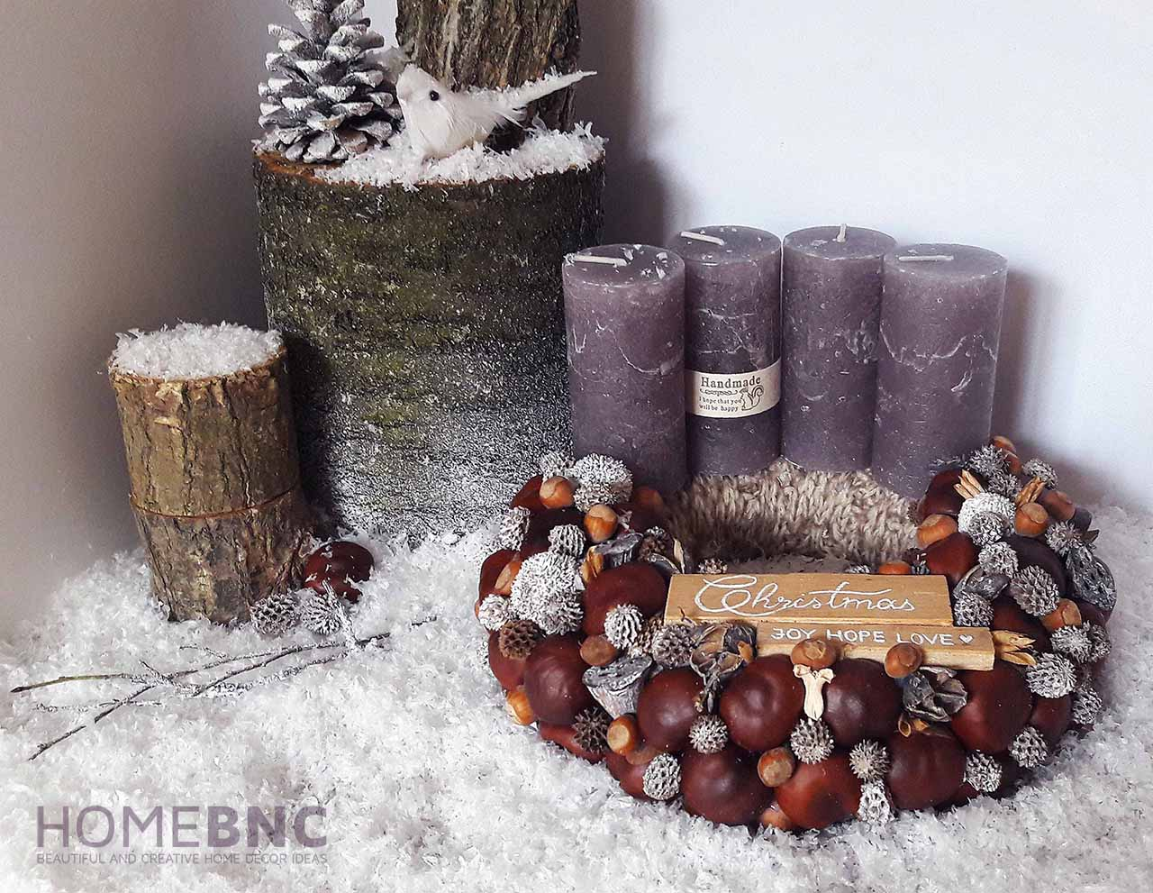 Nature Inspired Christmas Table Wreath