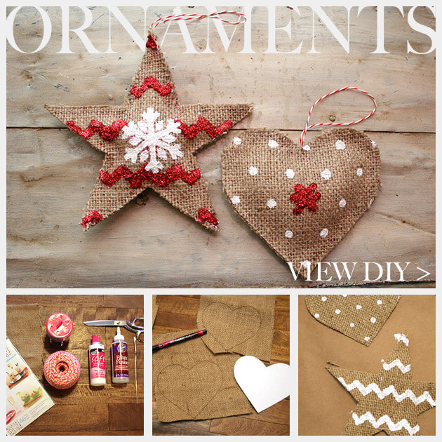 50 incredible diy christmas ornament tutorials for 2018 burlap ornaments diy solutioingenieria Gallery