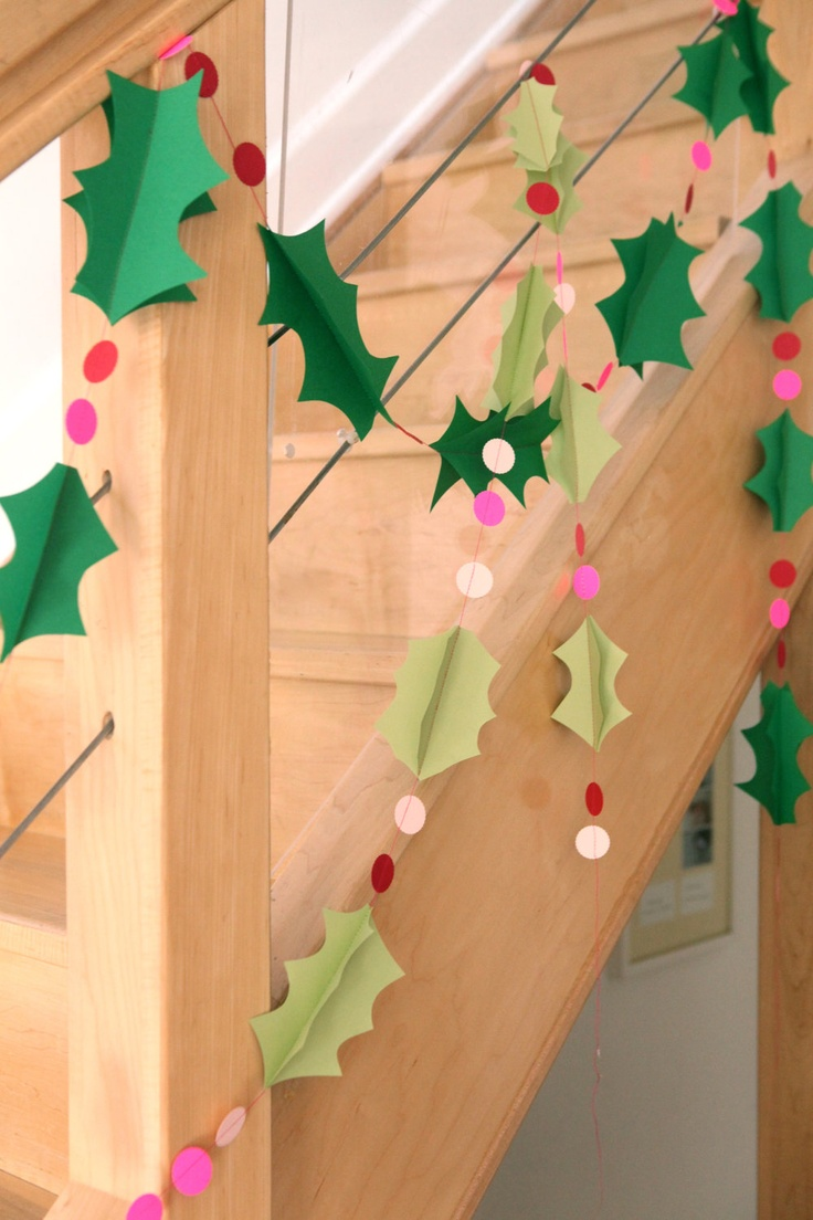 Hang these garlands, drape them, or wrap them around the tree. Most importantly, enjoy the results of your DIY determination! Paper Garlands. We begin with a series of paper garlands that use simple supplies to create magnificent results. The Christmas paper bauble garland below is .