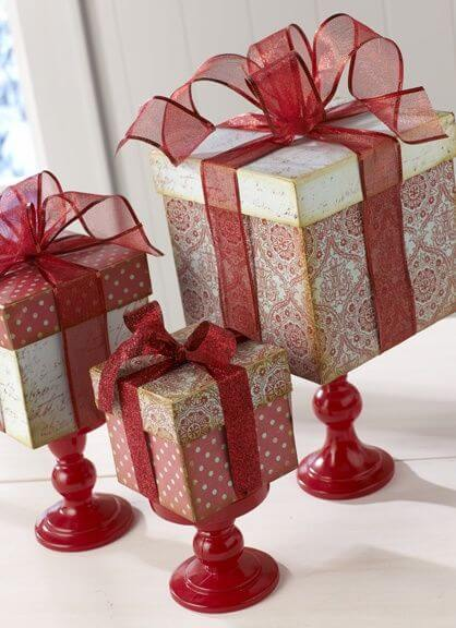 Cheery Box With a Bow on Top Decorations