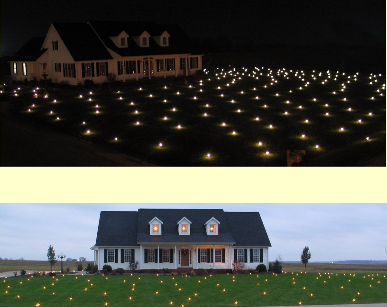 lawn lights - Cool Christmas Light Ideas