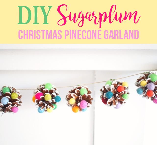 50 best diy christmas garland decorating ideas for 2017 - Guirlande pomme de pin noel ...