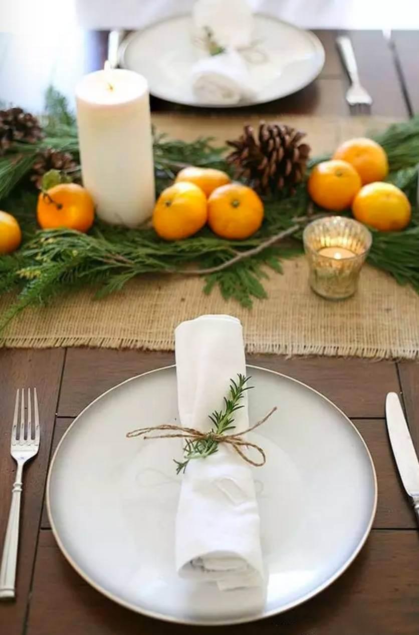 Citrus Woodland Rustic Table Décor