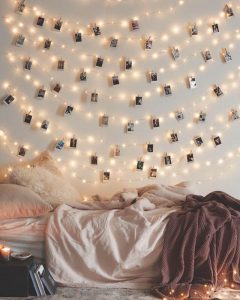 Polaroid-style Instagram Wall Art With Twinkle Lights — Homebnc