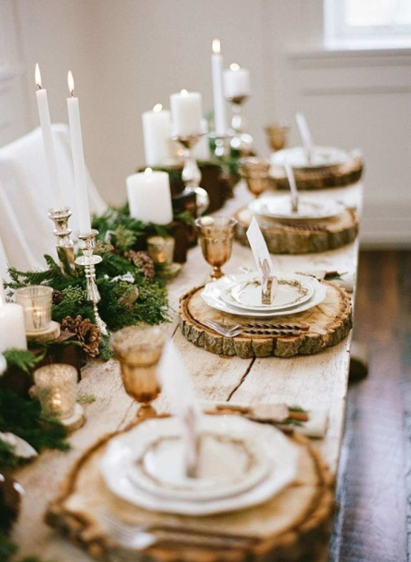 Woodland Elegance Meandering Table Centerpiece