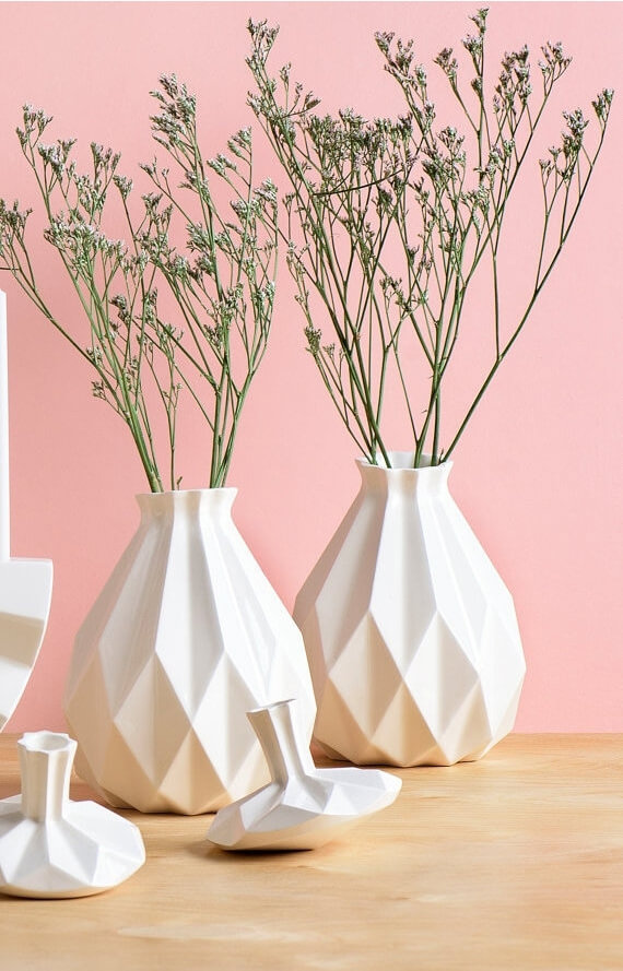 Geometric Glossy Vase
