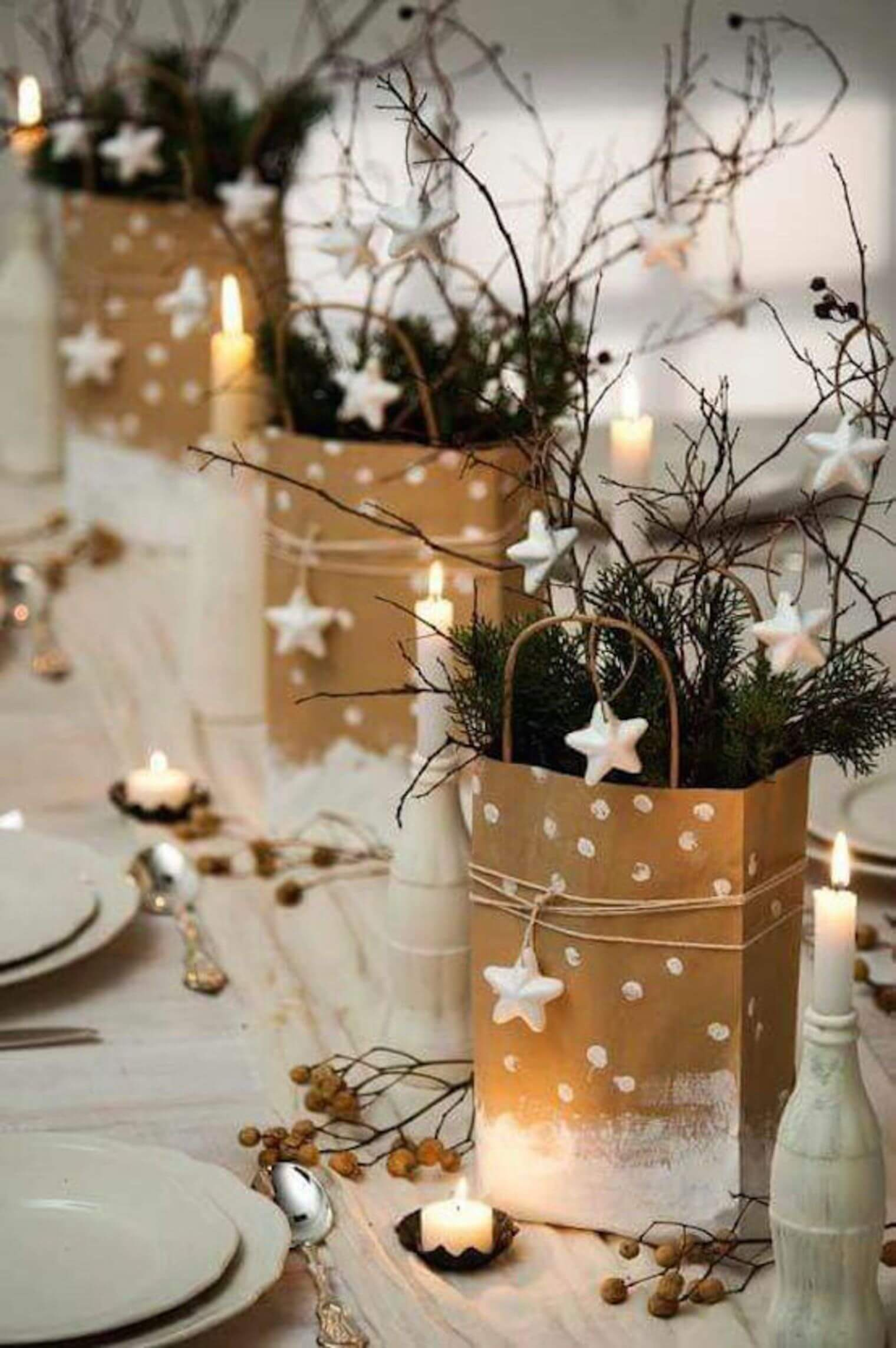 Gift Bags Galore Easy DIY Christmas Centerpiece Idea