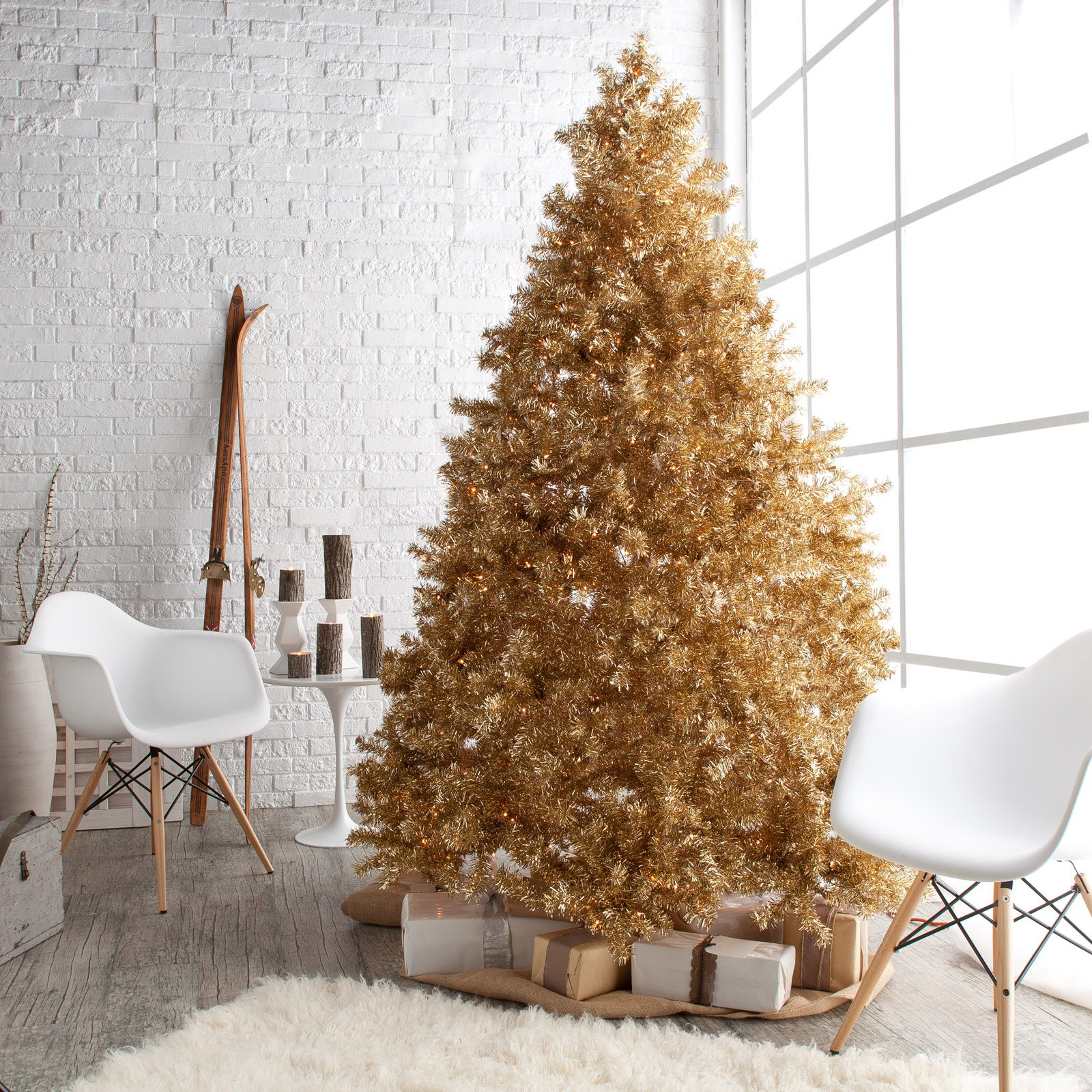 29 golden wishes - Gold Christmas Tree Decorating Ideas