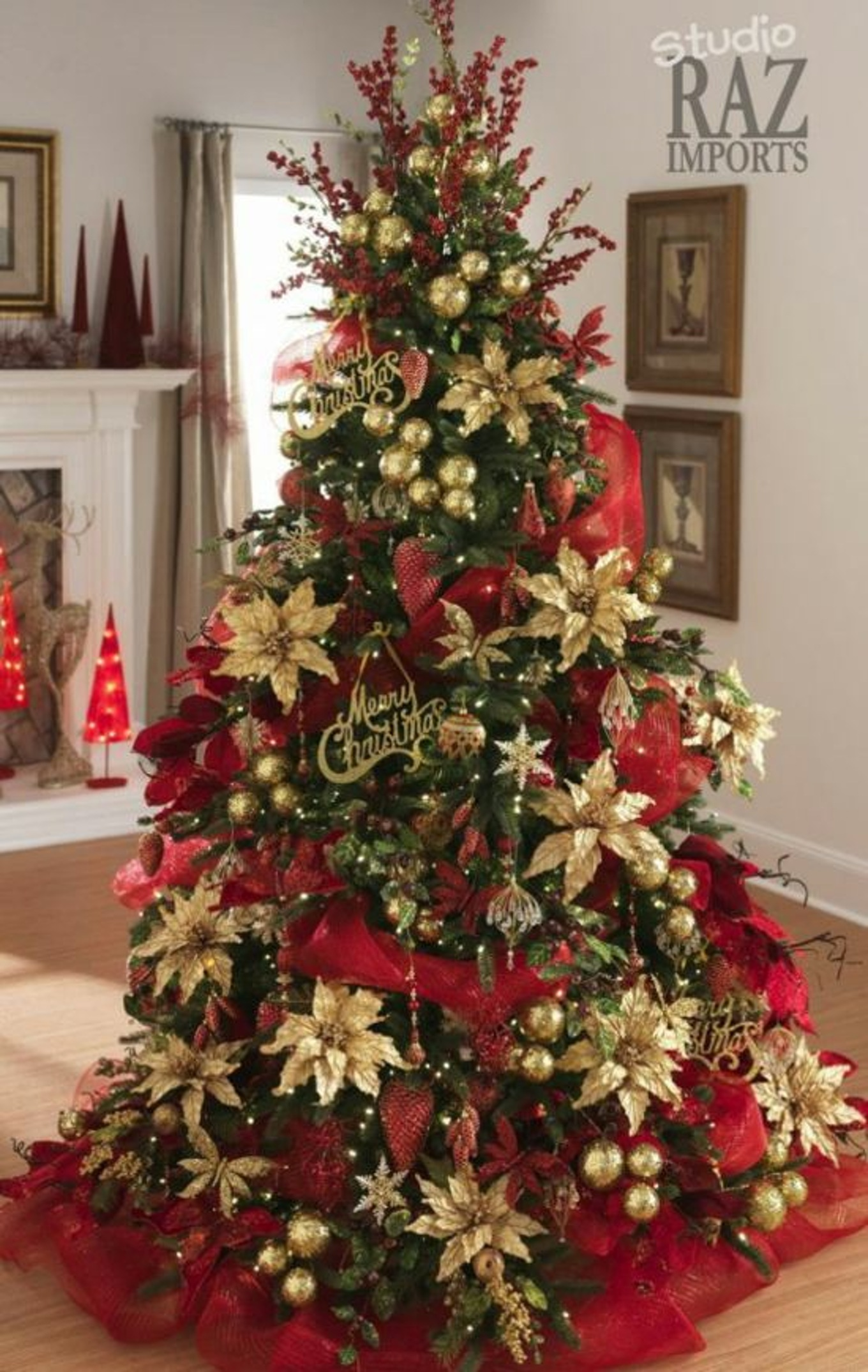 velvet poinsettias source razimportscom decorating a christmas tree