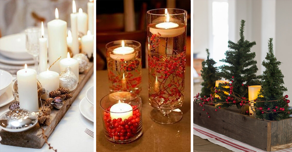 28 best diy christmas centerpieces ideas and designs for 2018 - Christmas Centerpiece Decorations
