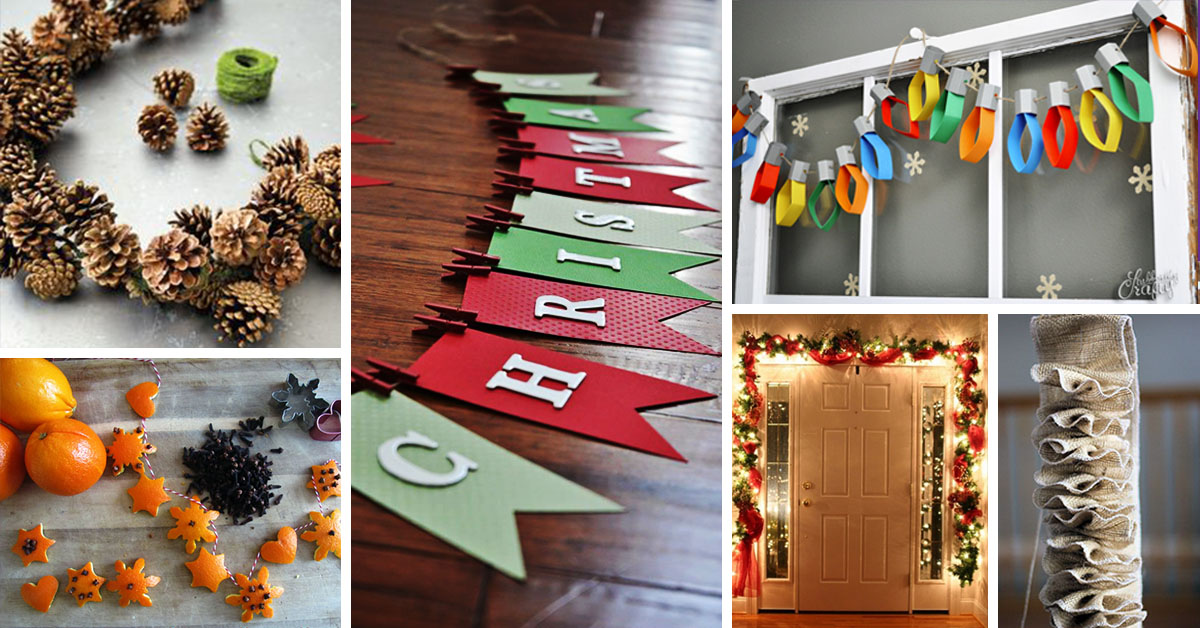 50 best diy christmas garland decorating ideas for 2018 - Diy Christmas Decorations Ideas