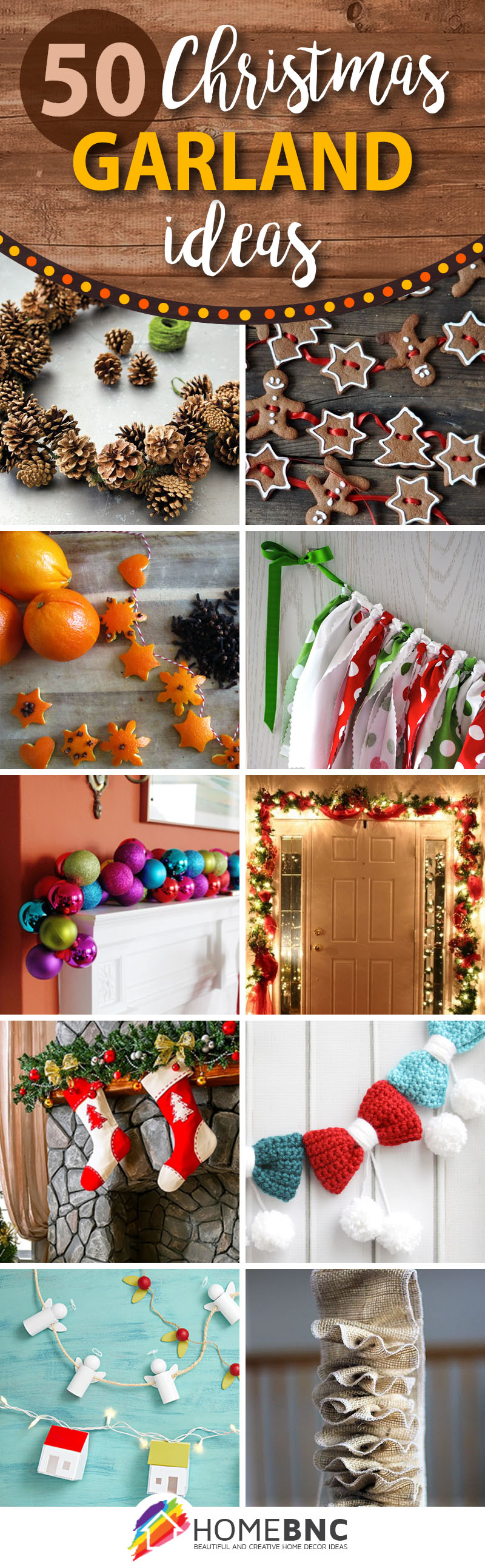 50 best diy christmas garland decorating ideas for 2018 for Inside christmas decorations