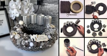 DIY Silver Christmas Wreath