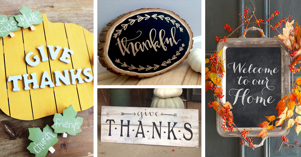 20 DIY Thanksgiving Signs your Friends and Family will Love