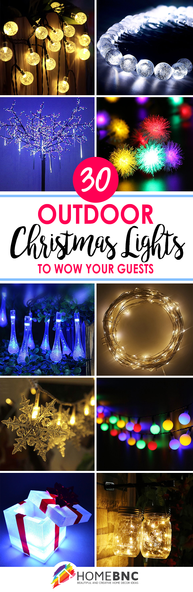 Outside Christmas Light Ideas Pinterest