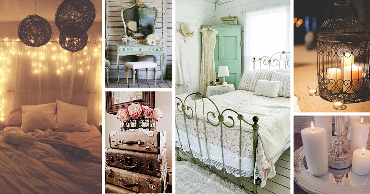 33 best vintage bedroom decor ideas and designs for 2018 for Room decor ideas vintage