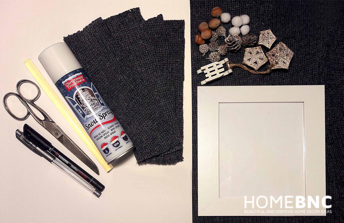Weihnachtsinspirierter DIY-Bilderrahmen