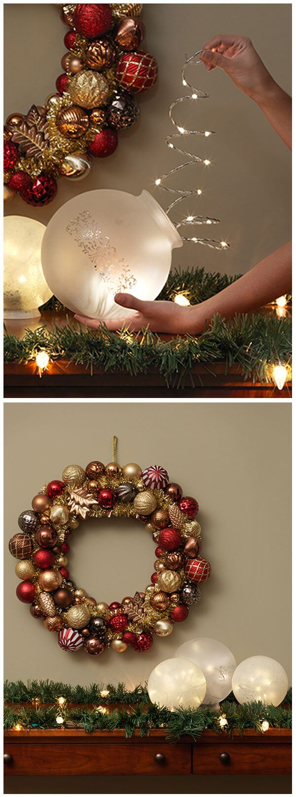 Transform Light Fixtures into Twinkling Globes