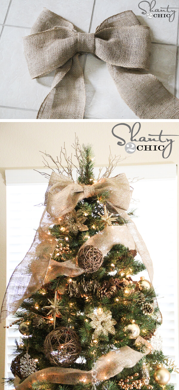 Simply Chic Burlap Tree Topper