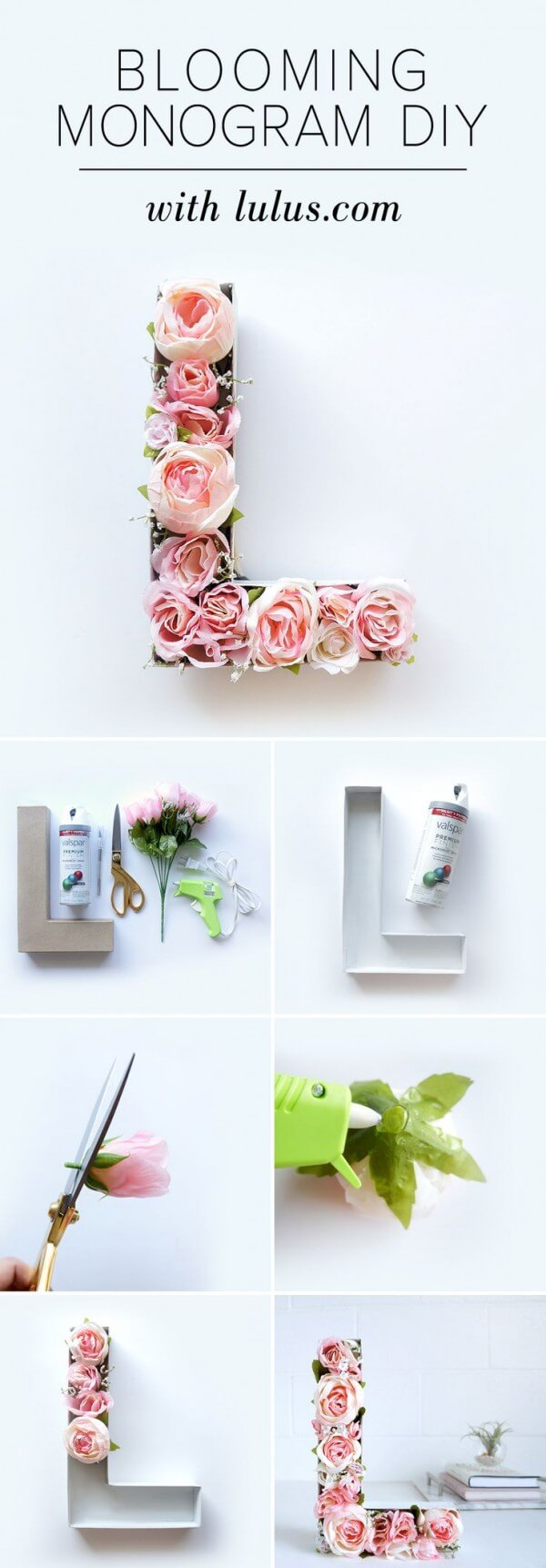 Simply Stunning DIY Floral Monogram