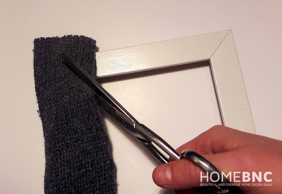 Place the Knitted Material over the Frame