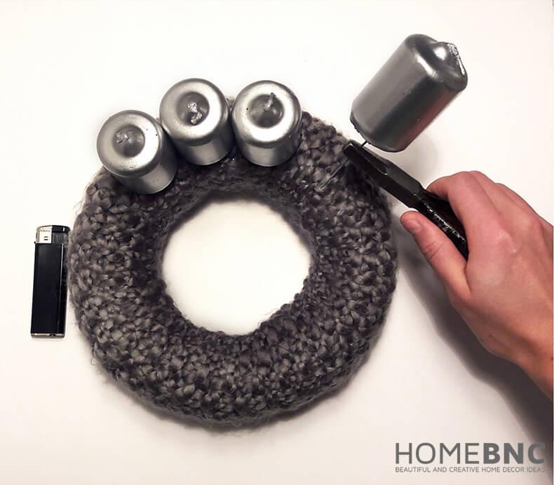 DIY: So stellen Sie Ihren eigenen silbernen Weihnachtstischkranz her