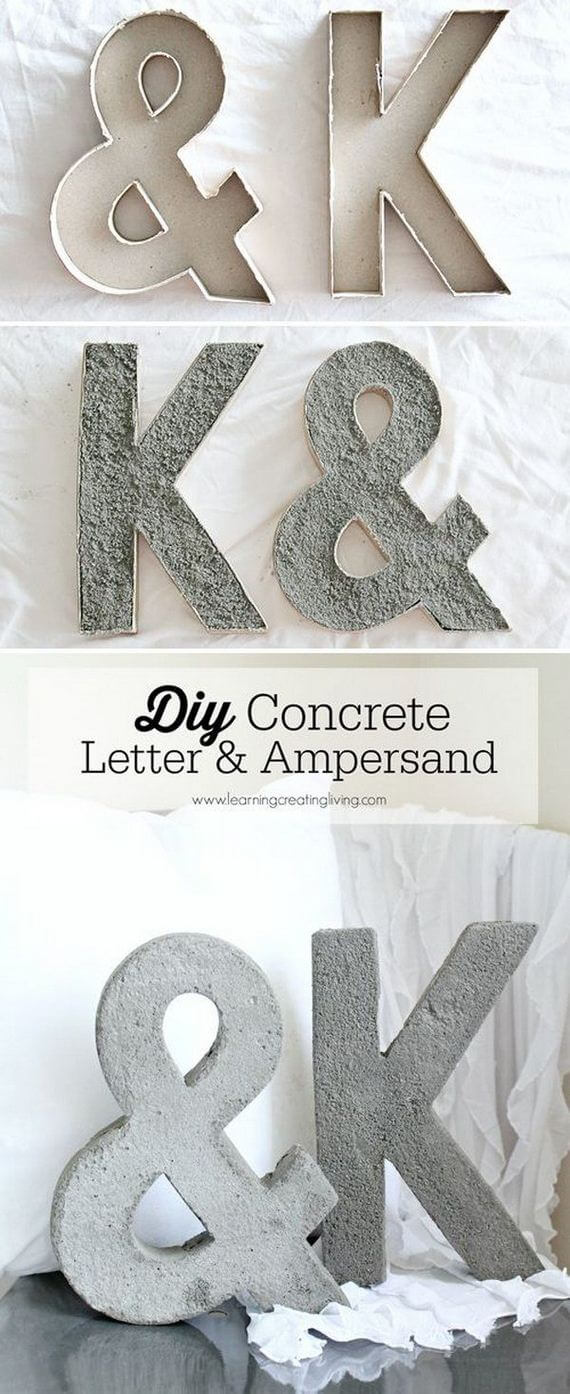 Simple and Modern Concrete Letters