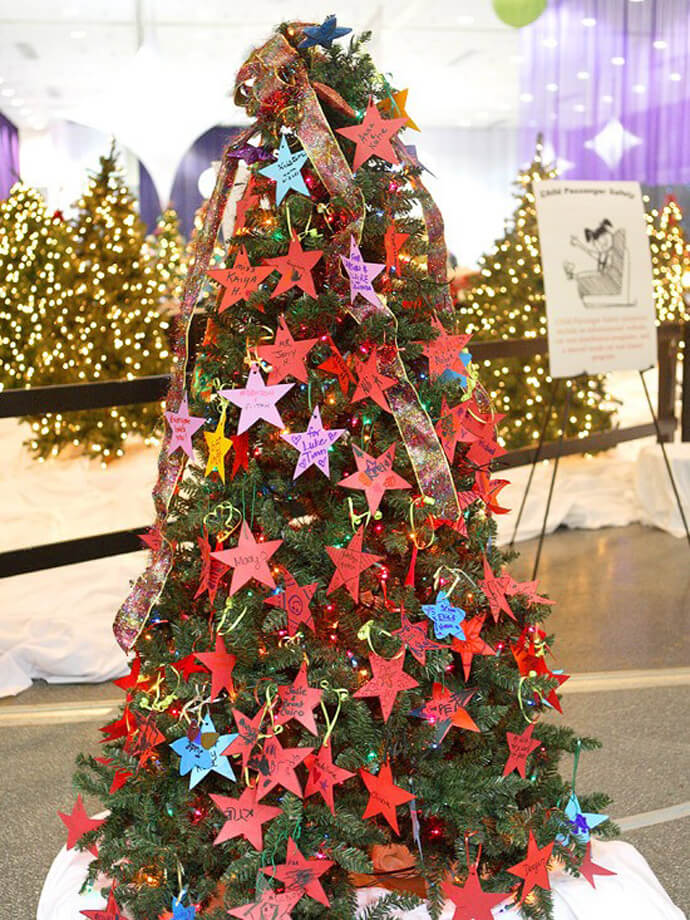 diy paper star ornament decor - Outdoor Christmas Tree Decorations