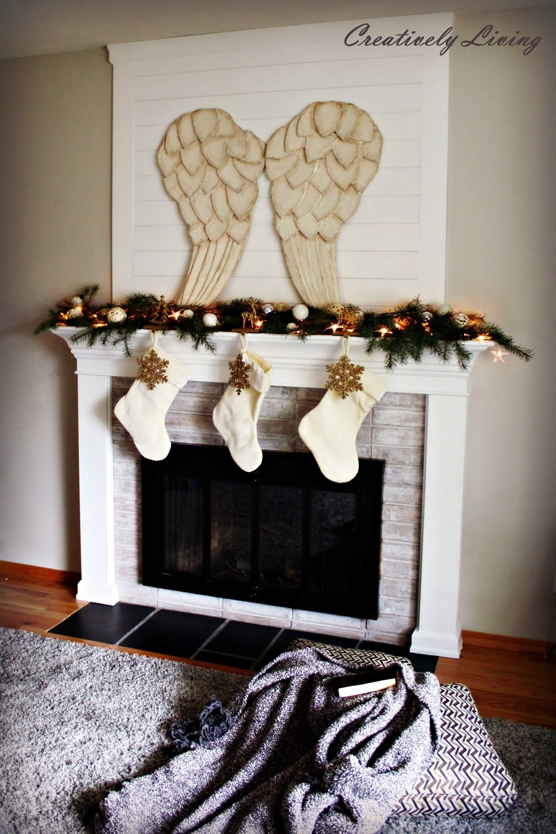 Beautiful DIY Angel Wing Centerpiece