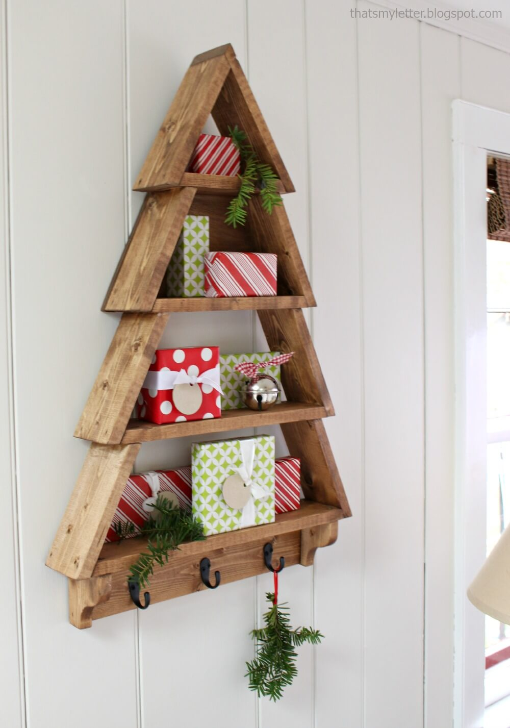 spruce up with a gorgeous tree shelf