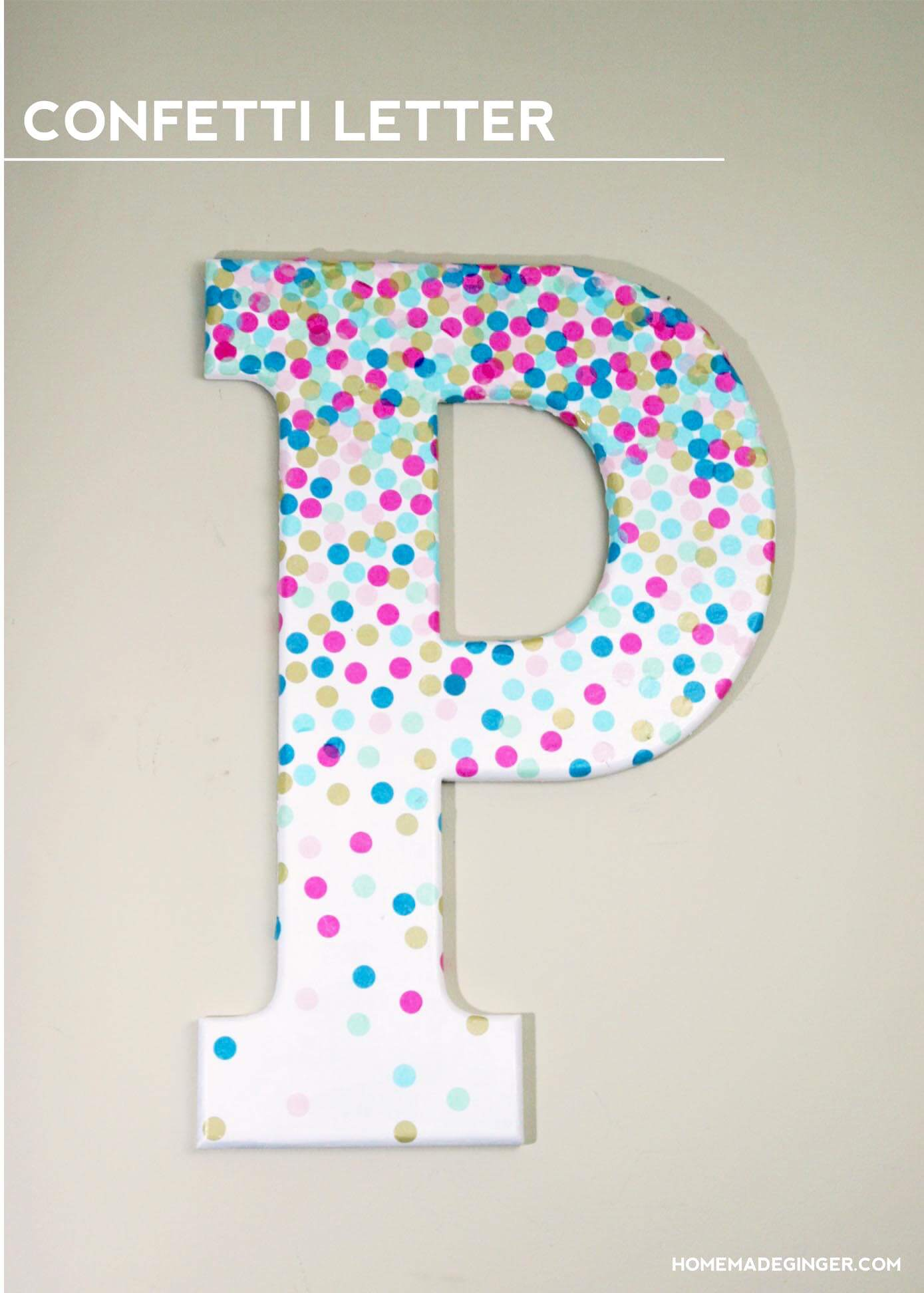 Confetti Letters Make a Playful Impact