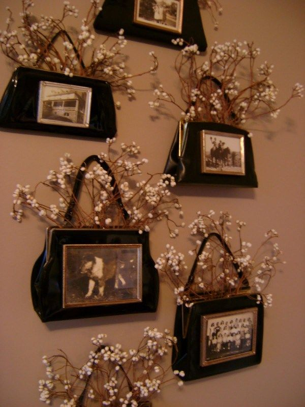 Gorgeous Display From Purses and Baby's Breath