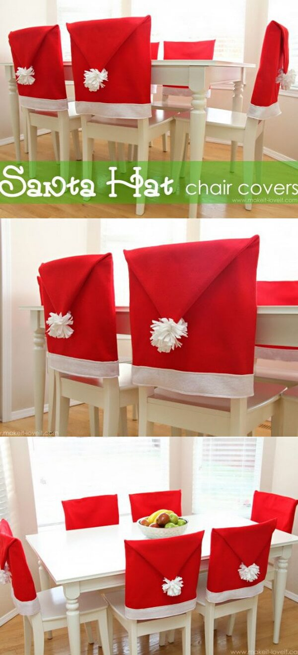 Santa Hat Chair Covers for the Kids!