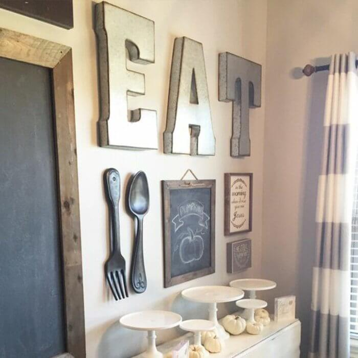 Create A Gallery Wall In The Kitchen