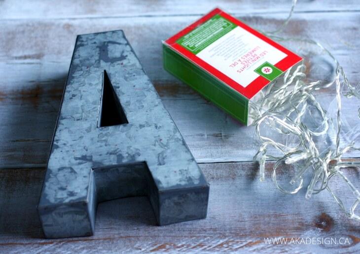 DIY Industrial Metal Marquee Letters