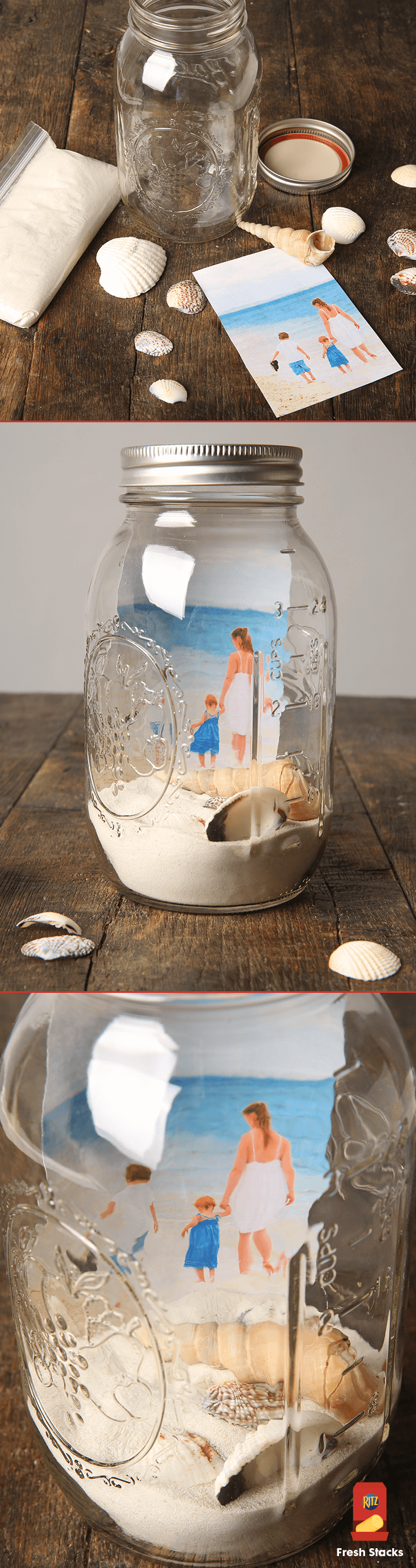 Create a Mason Jar Seascape