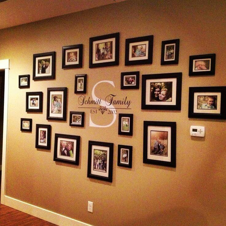 Family Portraits Centered Around Your Monogram