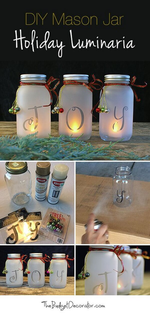 Spell it Out with Frosted Luminaries