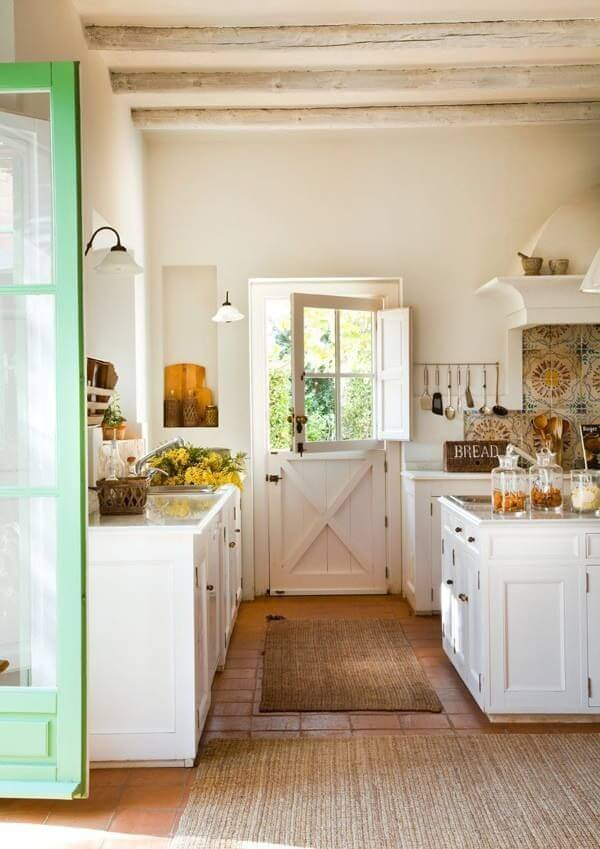 Dutch Door Leading to Kitchen Garden
